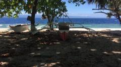 Catamaran Boats at the beach Stock Footage