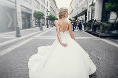 wedding day in Budapest - stock photo