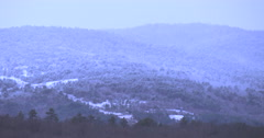 Pan video of frost hills and mountains in Slovenia Stock Footage