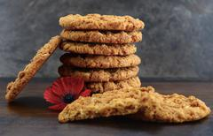 Australian Anzac biscuits Stock Photos
