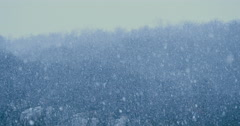 Heavy snow fall during winter christmas time in Slovenia, Divaca Stock Footage