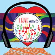 I love music Stock Illustration