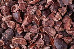 Cacao nibs, close up Stock Photos