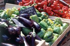 Vegetable stall, Aix-en-Provence - stock photo