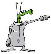 Stock Illustration of Funny green alien
