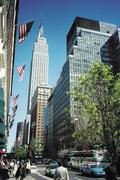 Empire State Building on 34th Street Stock Photos