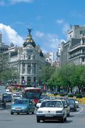 Gran Via, Madrid, Spain - stock photo