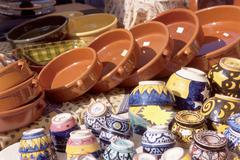 Pottery stall, Aix-en-Provence - stock photo