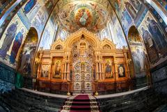 Altar of the Church of the Savior on Spilled Blood - stock photo
