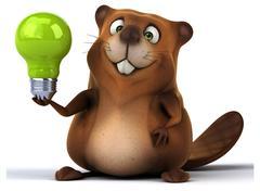 Fun beaver - stock illustration