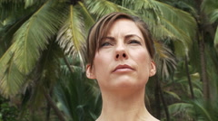Close up of woman practicing yoga Stock Footage