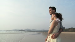 Couple by the sea Stock Footage
