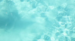 Man swimming in swimming pool, overhead view Stock Footage