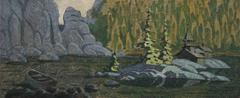 ILLUSTRATION OF ROCKS HILLS Stock Illustration