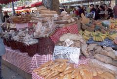 Market stall, Place Richelme, Aix-en-Provence - stock photo