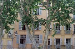 House on Place Richelme, Aix-en-Provence Stock Photos