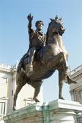 Statue of Marcus Aurelius, Rome, Italy Stock Photos