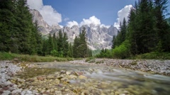 Stream and mountains - 4K time lapse - stock footage