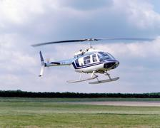 Stock Photo of Helicopter landing
