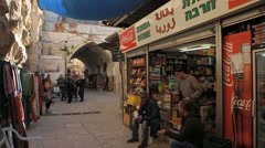 Police in Arab Quarter, Jerusalem. Stock Footage