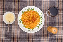 Classic spagetti bolognese Stock Photos