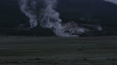 Yellowstone Timelapse Steam Rising from the Mountain Stock Footage