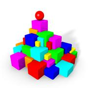Stock Illustration of Colorful cubes and sphere