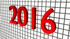 Year 2016 over wire background Stock Illustration