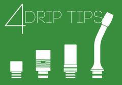 4 drip tips set - stock illustration