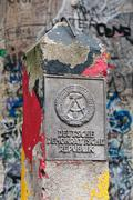 DDR border marker, East Berlin, Germany Stock Photos