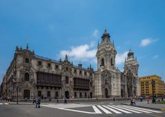 Archbishop's palace of Lima, the capital of Peru Stock Photos