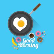 Stock Illustration of good morning concept. vector food background
