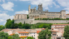View of Beziers in a spring day Stock Footage