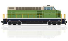 Stock Illustration of railway locomotive train vector illustration