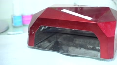 LED Nail Lamp Stock Footage