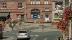 Timelapse of Melrose town in the Scottish Borders Stock Footage