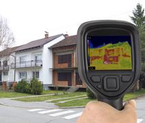 Stock Photo of Facade Infrared Leak
