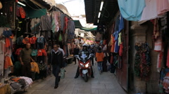 Arab Quarter Shops Stock Footage