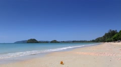 Nopparat Thara Beach near Krabi. Stock Footage