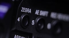 Close up shooting of camera, body's details Stock Footage