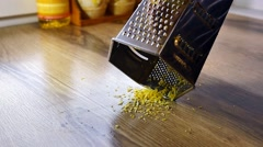 Lemon zest being grated,  Stock Footage