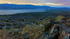 Mountain Summit Kelowna, BC, Canada Stock Footage