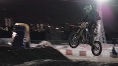 Moto Cross At Night 3 Stock Footage