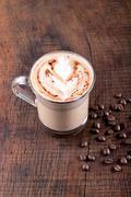 White Frappe Coffee - stock photo
