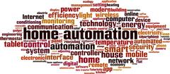 Home automation word cloud Stock Illustration