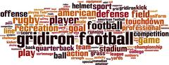 Stock Illustration of Gridiron football word cloud