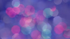 Blue bokeh lights background Stock Footage