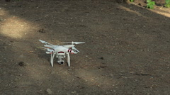 Сopter Rise Above the Ground Stock Footage