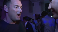 Michael Michalsky Interview at Fashion Week after party Stock Footage