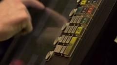 Man's Hands Operating Cash Register Stock Footage